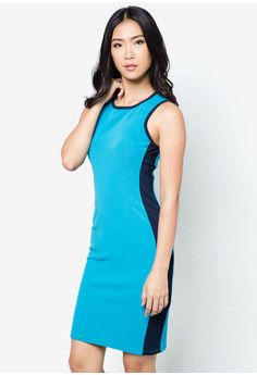 Sporty Stripe Sheath Dress