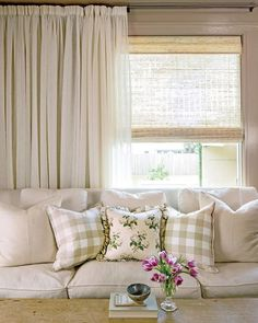 Four Ways with Curtains   Decorator Brannan Geary echoed, but didn't replicate, her New Orleans home's original window treatments. She fit them to each room's specific decor and function.