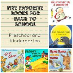 Five Great Book for Back to School - Kindergarten and Preschool