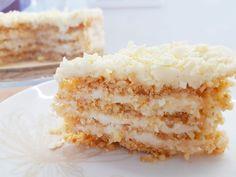 Niesamowite ciasto przekładane bez pieczenia – Słodki Blog Vanilla Cake, Food And Drink, Baking, Dessert Ideas, Blog, Bakken, Blogging, Backen, Postres