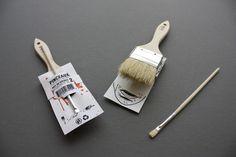 Gran proyecto universitario del canadiense Simon Laliberté que consistía en crear un atractivo empaque para un set de brocha y pincel, la idea que materializó.