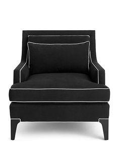 Norwich Elegant Club Chair in black and ivory | home furnishings | Kate Spade New York