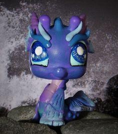 Littlest Pet Shop Sea Dragon Guardian Spirit OOAK custom figure LPS Ocean cute #Hasbro
