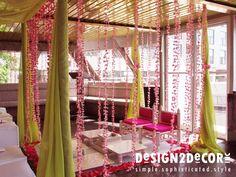 indian wedding decor green pink - Google Search