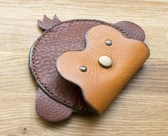 Monkey Coin Purse, Childrens' Coin Pouch, Personalised Coin Pouch, Handmade Leather Purse Monkey Coin Purse accessory for kids Leather Gifts, Leather Craft, Leather Keychain, Leather Wallet, Leather Purses, Leather Handbags, Leather Totes, Leather Bags, Animal Bag