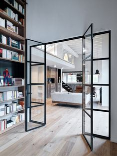 Stefano Viganò Designed a Double-Height Loft with an Industrial Personality Stefano Viganò Designed a Double-Height Loft with an Industrial Personality Loft Door, Casa Loft, Loft Design, Home Decor Styles, Interior Design Kitchen, Home Renovation, Interior Architecture, Building A House, New Homes