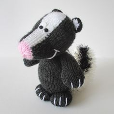https://flic.kr/p/wbMKsf | Cyril the Skunk | Knitting pattern design by Amanda Berry