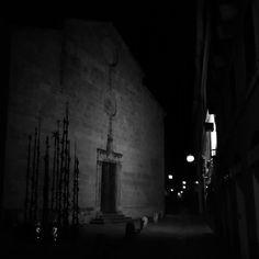 EasterLights #Alghero #Pasqua #PinuccioSciola #Sciola #omaggioagaudì #sanfrancesco #sardegna #2015 #notte  #blackandwhite