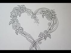 Amazing Easy Rose Drawing With A Heart - Drawing Tutorial