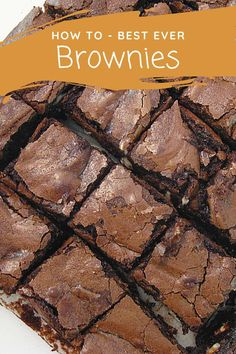 Chocolate fudge brownies for the Thermomix. If you like soft, moist, super chocolate brownies that are squidgy, these make the grade. Chef Recipes, Sweet Recipes, Snack Recipes, Cooking Recipes, Cooking Ideas, Gooey Brownies, Chocolate Fudge Brownies, Best Ever Brownies, Tupperware Recipes