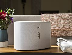 Fill your home with rich, crisp music with the Wireless Omni S6 #Stereo from Polk Audio. This sleek stereo, which comes in both black and white, blends in among your décor.  #speaker