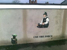 Use The Force. Street art by JPS