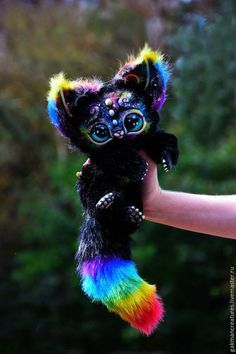 Space Kitten von GakmanCreatures auf Etsy - Animals and pets Baby Animals Super Cute, Cute Little Animals, Cute Funny Animals, Cute Cats, Cute Fantasy Creatures, Cute Creatures, Baby Animals Pictures, Animals And Pets, Anime Animals