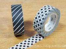 Masking Tape, 2er Set Black dot x Stripe