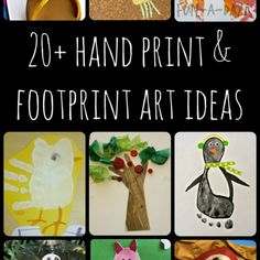 20 Darling Hand And Foot Print Craft Ideas | EverythingOrganized.Org