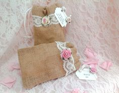 Vintage Wedding Confetti Bags with Pretty Personalised Tag with/without confetti   eBay