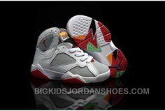 "http://www.bigkidsjordanshoes.com/2016-nike-air-jordan-7-vii-retroharewhite-true-redlight-silvertourmaline-kids-shoes-304775125-hot.html 2016 NIKE AIR JORDAN 7 VII RETRO""HARE""WHITE/TRUE RED-LIGHT SILVER-TOURMALINE KIDS SHOES 304775-125 HOT Only $85.00 , Free Shipping!"