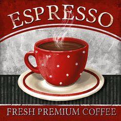 Espresso Canvas Art - Conrad Knutsen x Coffee Art, Coffee Theme, I Love Coffee, Coffee Shop, Coffee Cups, Tea Cups, Bar Kunst, Espresso, Coffee Pictures