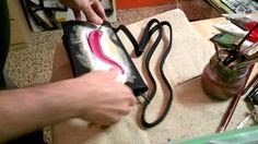 red time, pintando una bolsa, il cantiere, via pia. savona