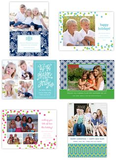 Christmas in July ~ new Christmas card designs from Boatman Geller #Monograms #holiday #stationery