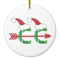 Funny Christmas © Cross Country Running (1-sided) Ceramic Ornament