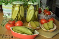 Najlepsze ogórki kanapkowe jakie kiedykolwiek jadłam! Stały się w tym roku hitem w naszej kuchni jeśli chodzi o przetwory. Przepis znalazłam na blogu Kulinarne Szaleństwa Margarytki. Z podanego przepisu wychodzi ok. 6 słoików po 400 ml.  Najlepsze ogórki kanapkowe – składniki: 1,5 kg ogórków średniej wielkości 2 szklanki wody 1 i ¾ szklanki octu […] Preserves, Pickles, Cucumber, Avocado, Food And Drink, Curry, Homemade, Canning, Vegetables
