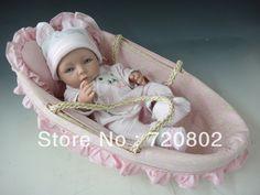 100% full silikonové živý dítě silikonové reborn panenky-in panenky od Hračky a koníčky na Aliexpress.com   Alibaba Group