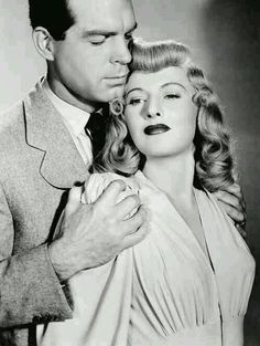 Fred Mcmurray and Barbara Stanwyck - so great together!                                                                                                                                                     More