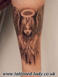 Angel Tattoo by Tattooed Lady