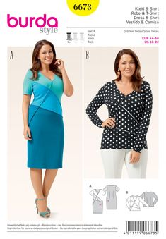 Burda Style Dress & Top 6673 image 1