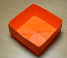 "nifty little sturdy origami box (can make nesting boxes or boxes w/lids by reducing square size by 1/2"")"