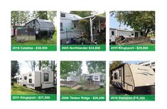 Browse our selection of new Bridgeview and Catalina models for sale, and our used RVs for sale set up on seasonal sites at Whistle Bare Campground, Landings Campground and Country Gardens RV Park. Used Rvs For Sale, Park Model Homes, Make Dreams Come True, Woodland Park, Models For Sale, Rv Parks, Families, Floor Plans, Budget