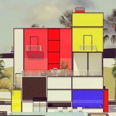 bauhaus-movement:  Mondrian House © Vasily Klyukin | www.bauhaus-movement.com