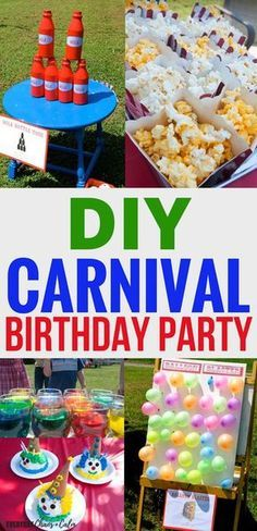 How to Throw an Amazing Carnival Birthday Party! - How to Throw an Amazing Carnival Birthday Party! Birthday Party Ideas: Throw an amazing DIY carnival birthday party for your kids. Ideas for carnival themed games, activities, and food! Carnival Themed Party, Carnival Birthday Parties, Carnival Diy, Themed Parties, Carnival Party Decorations, Homemade Carnival Games, Carnival Food, Summer Theme Parties, Spring Party Themes