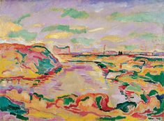 Georges Braque Landscape near Antwerp 1906- Les fauves