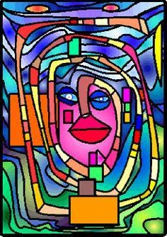 """Friedrich Stowasser (1928-2000) avait choisi pour nom d'artiste : Friedenreisch Hundertwasser, qui signifie :  """"le royaume de la paix au..."""