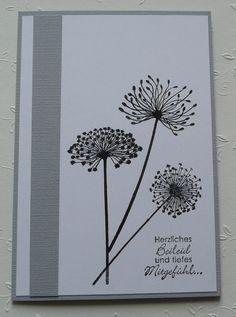 Trauer & Beileid - Beileidskarte - Trauerkarte - Kondolenzkarte - ein Designerstück von diemaxibiene bei DaWanda