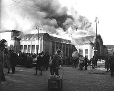Tulipalo_Hgin_rautatieasemalla_15-06-1950_Hgin_kaupunginmuseo_Pekka_Kyytinen
