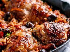 Spanyolos sült csirkecomb, rizzsel. Ollé!
