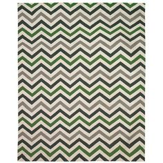 DwellStudio Home Wool Rug Zig Zag Kelly Green