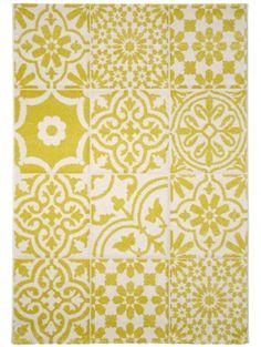 Teppich Patchwork-Mosaico Gelb