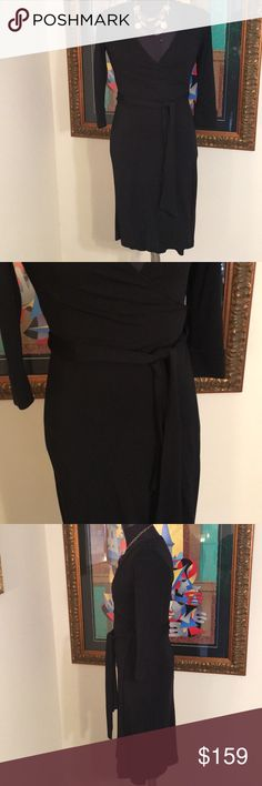 ⭐️DIANE VON FURSTENBERG BLACK WRAP DRESS 💯AUTH ❤️DIANE VON FURSTENBERG BLACK WRAP DRESS 💯AUTHENTIC! STUNNING AND STYLISH ALWAYS ON TREND! TRUE HIGH END LUXURY! THE SIZE IS 6 . THE BUST MEASUREMENT IS 17.5 INCHES WIDE BY 35 INCHES ADOUND. THE HIP MEASURES 20 INCHES WIDE BY 40 INCHES AROUND. IT IS A STRETCHY WRAP DRESS . THE LENGTH IS 43 INCHES Diane Von Furstenberg Dresses