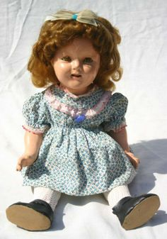 "~ 18"" Composition ""Shirley Temple"" Doll ~ (1940's)"