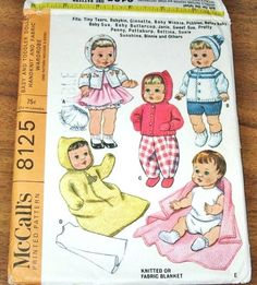 McCall's 8125 Baby Doll Clothes Wardrobe Hand Knit by SewBohemian