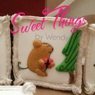 Medium square cookies - sweetthingsbywendy.ca Square Cookies, Edible Favors, Party Favours, Joy To The World, Time Of The Year, Christmas Ornaments, Medium, Holiday Decor, Sweet