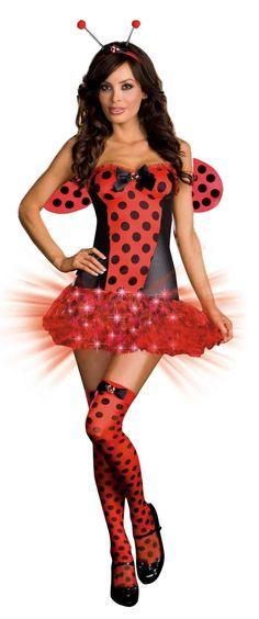Light Me Up Ladybug Adult Costume from Buycostumes.com