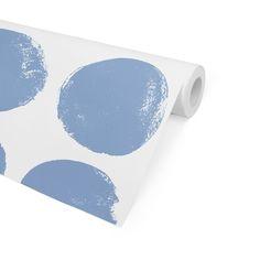 DOTS BLUE Peel and Stick Wallpaper By Terri Ellis - 2ft x 16ft