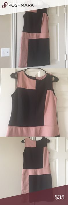 🌺Lovely black and dusty rose pink This dress is very stylish and could be dressed up or down. It is very comfortable and it stretches. I am cleaning out my closet so make an offer! I have only worn it once as it is a bit big on me. Enfocus Studio Dresses Midi