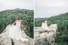 Nomadic Cliff Side Elopement   Martina Liana wedding dress