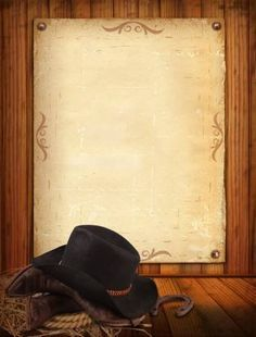 Picture of Western background with cowboy clothes and old paper stock photo, images and stock photography. Cowboy Birthday Party, Cowgirl Party, Cowboy Party Invitations, Birthday Invitations, Cowboy Outfits, Western Parties, Toy Story Birthday, Minecraft Party, Mexican Party